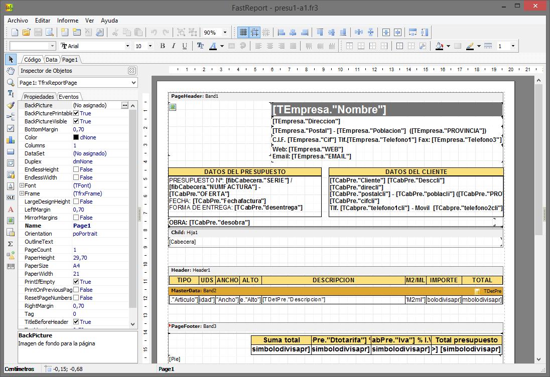 Generador de informes parte II (Manejo básico)